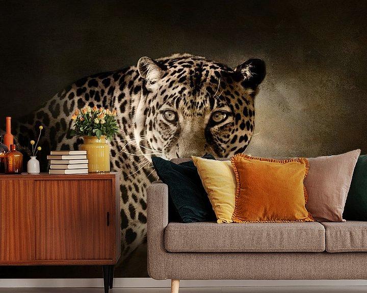 Beispiel fototapete: Leopard von Diana van Tankeren