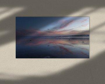 Zonsondergang, Los Angeles, Amerika van Joost Jongeneel