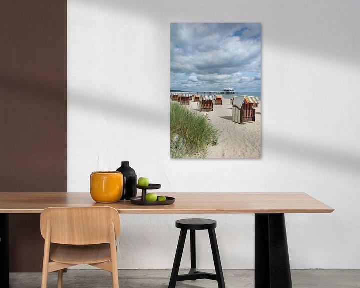 Sfeerimpressie: op het strand van Timmendorf aan de Oostzee van Peter Eckert