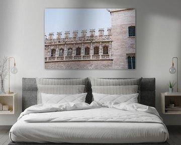 Mooie oude gebouwen in de oude stad Valencia , Spanje van Lindy Schenk-Smit