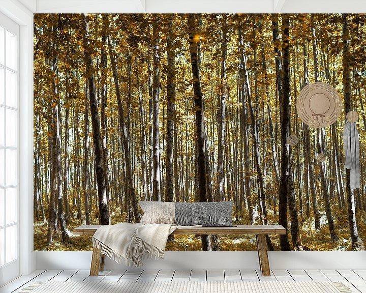 Impression: Forêt jaune d'automne sur Miranda van Hulst
