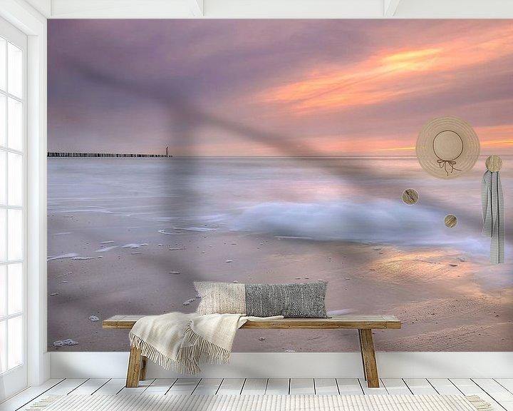Sfeerimpressie behang: Zonsondergang Breskens van Frankhuizen Photography