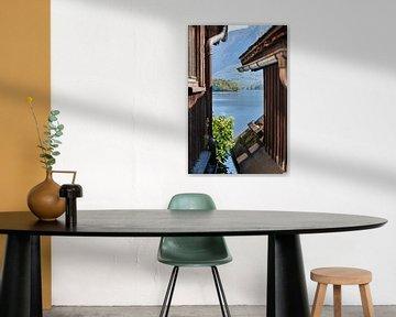 Uitzicht op het Hallstatt-meer van Peter Baier