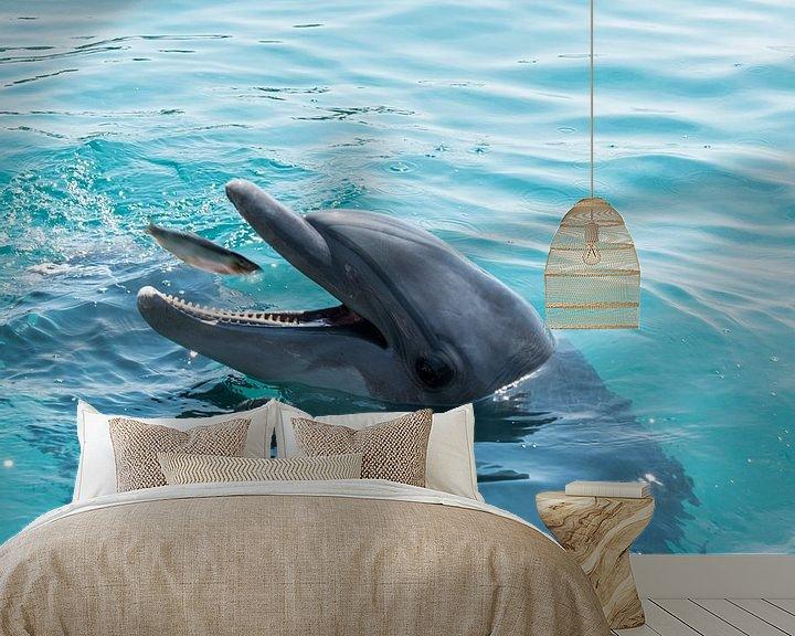 Beispiel fototapete: Delphin fängt einen Fisch von Compuinfoto .