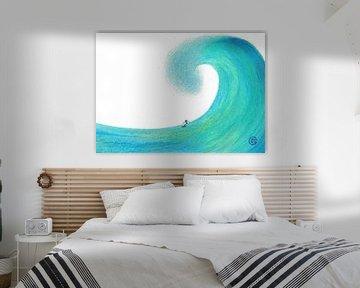Aug den Wellen surfen von Monique van Kipshagen