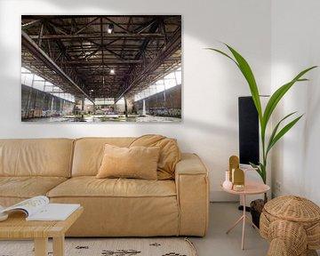 De verlaten industriële hal van Eisenpictures