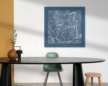 Utrecht plattegrond in straatnamen en de Dom van Vol van Kleur