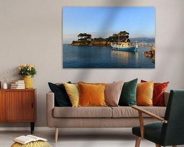 Ochtend licht , Cameo Island, Zakynthos, Griekenland van FotoBob