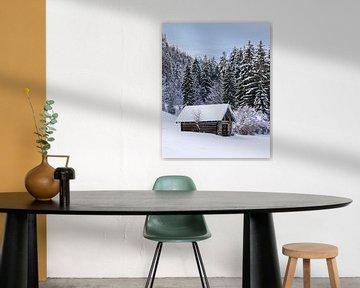 Winterlandschap in Zuid Duitsland van Henk Meijer Photography