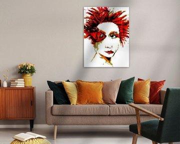 Femme Fatale Rouge sur Anita Snik-Broeken