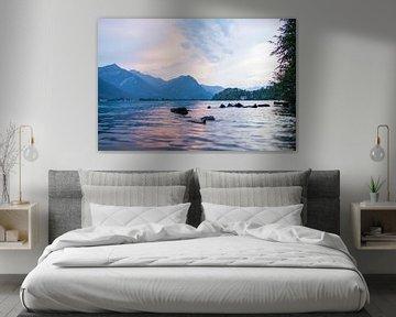 Sunset Swim van Djuli Bravenboer
