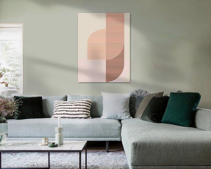 Sfeerimpressie: Abstracte samenstelling 1110 van Angel Estevez