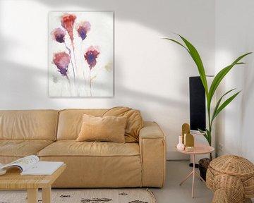 Aquarell-Blumen von Angel Estevez