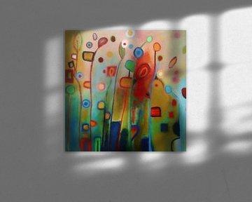Wildblumen - Abstraktes Konzept von Angel Estevez