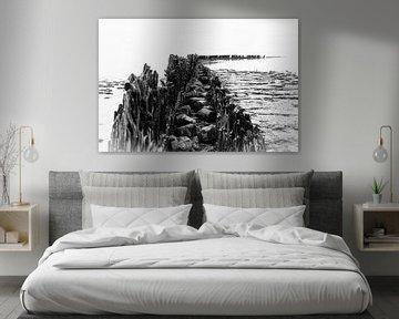 Das Wattenmeer in abstrakter Form von Willemke de Bruin