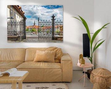 Blick vom Domberg auf den Domplatz Erfurt von Gunter Kirsch