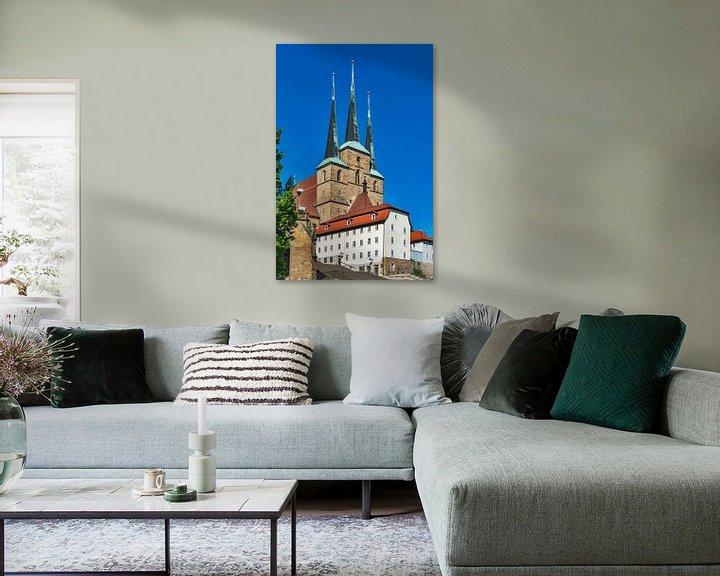 Sfeerimpressie: Severikerk op de heuvel van de kathedraal in Erfurt van Gunter Kirsch