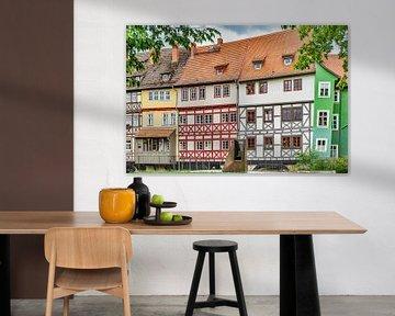 Fachwerkhäuser der Krämerbrücke Erfurt von Gunter Kirsch