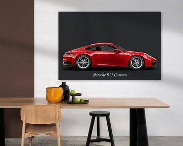 Porsche 911 Carrera, met tekst wit van Gert Hilbink