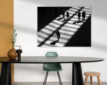 Schwarz-weißes Straßenbild New York von Rutger van Loo