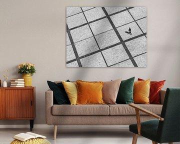 Minimalistisches Schwarz-Weiß-Foto in Kiew von Rutger van Loo