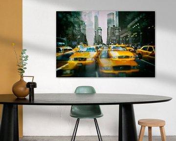 Gele taxi's in New York van Caught By Light