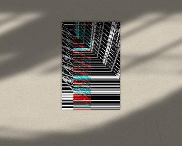 Linien Rot und Blau von Christophe Fruyt