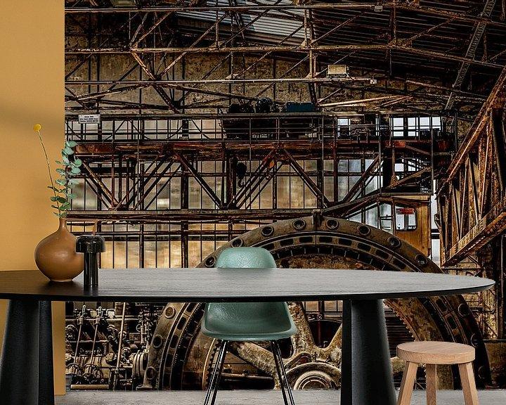 Sfeerimpressie behang: verlaten en verroeste machinerie van Okko Huising - okkofoto