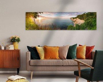 Landschaftspanorama von den Kreidefelsen auf Rügen von Fine Art Fotografie