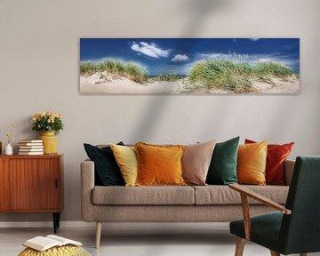 Panoramisch duinzicht op het strand en de Oostzee op een warme zomerdag. van Voss Fine Art Fotografie