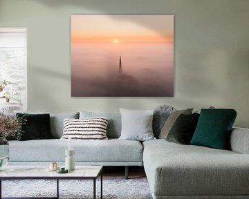 Schöner nebliger Morgen in Alkmaar, Nordholland von Nick de Jonge - Skeyes