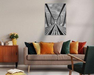 Leuchtturm aus Ostahorn in Schwarz-Weiß von R Smallenbroek