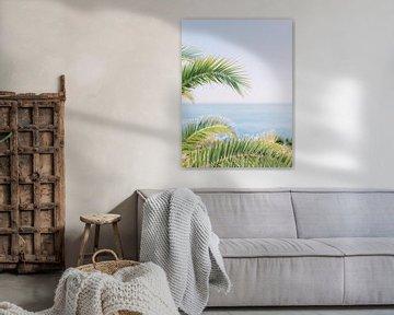 Palmiers à côté de la plage sur Youri Claessens