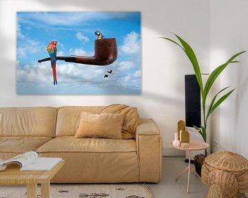 """Ceci n'est pas une pipe"" zei Magritte van Lida Bruinen"