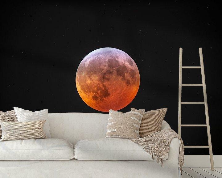 Beispiel fototapete: Mondfinsternis von Elbert-Jan Achterberg