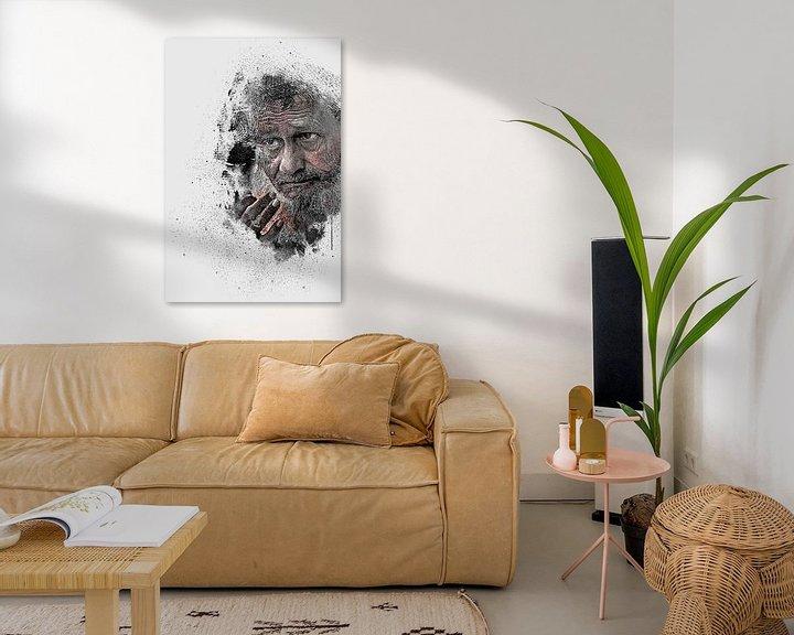 Beispiel: Portrait alter Mann von Peter Roder