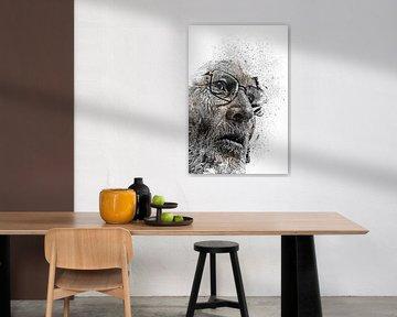Portrait d'un vieil homme sur Peter Roder