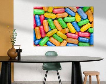 Farbige Süßwaren - Makrofoto