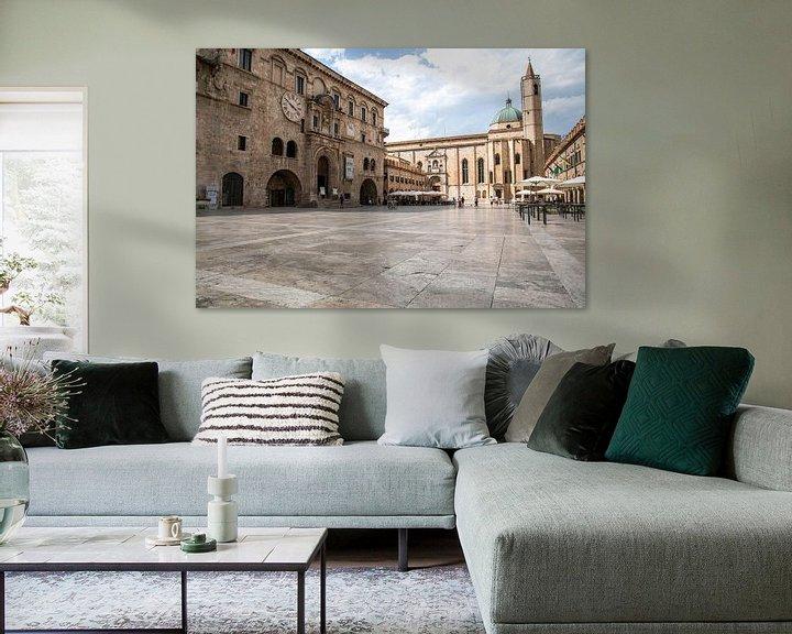 Beispiel: Italienischer Dorfplatz, Ascoli Piceno von Stephanie Egberts