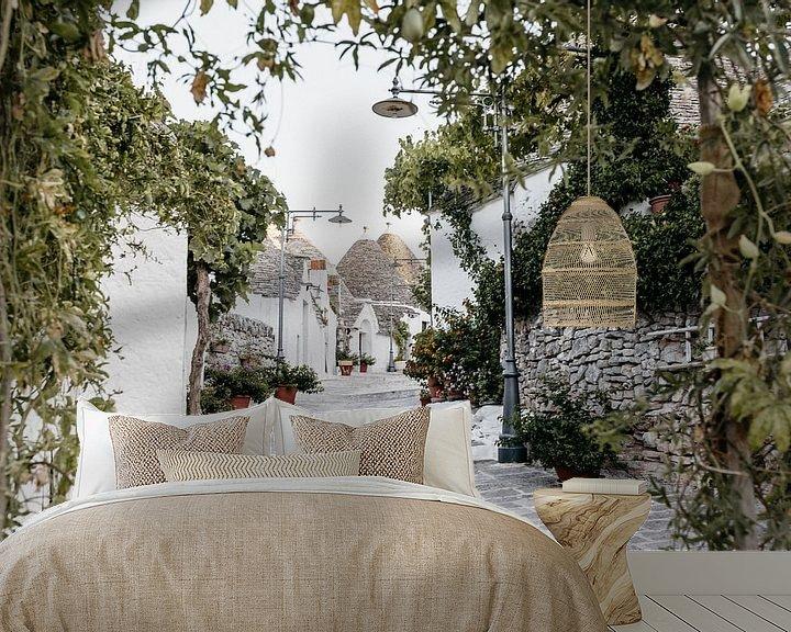 Beispiel fototapete: Malerische Trulli-Häuschen in Alberobello, Italien von Stephanie Egberts