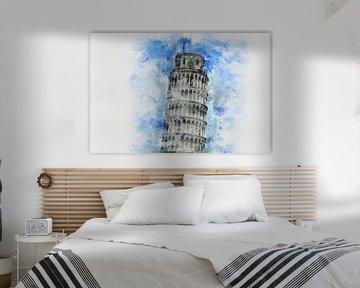 Der schiefe Turm von Pisa von Claudia Evans