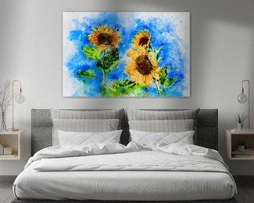 Zonnebloemen van Claudia Evans