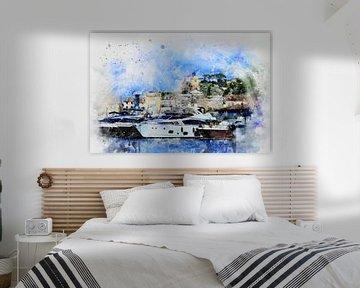 Hafen in Saint-Tropez an der   Côte d'Azur von Claudia Evans