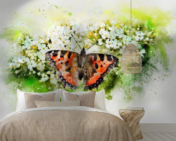 Beispiel fototapete: Der Schmetterling von Claudia Evans