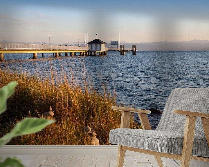 Sfeerimpressie behang: Landingsplaats in Immenstaad aan het Bodenmeer van Jan Schuler
