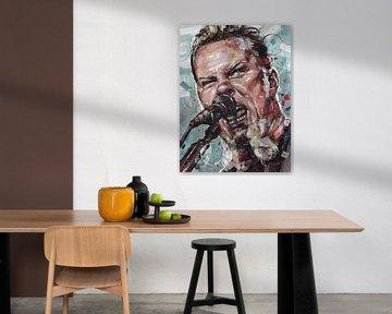 Metallica, Gemälde von James Hetfield. von Jos Hoppenbrouwers