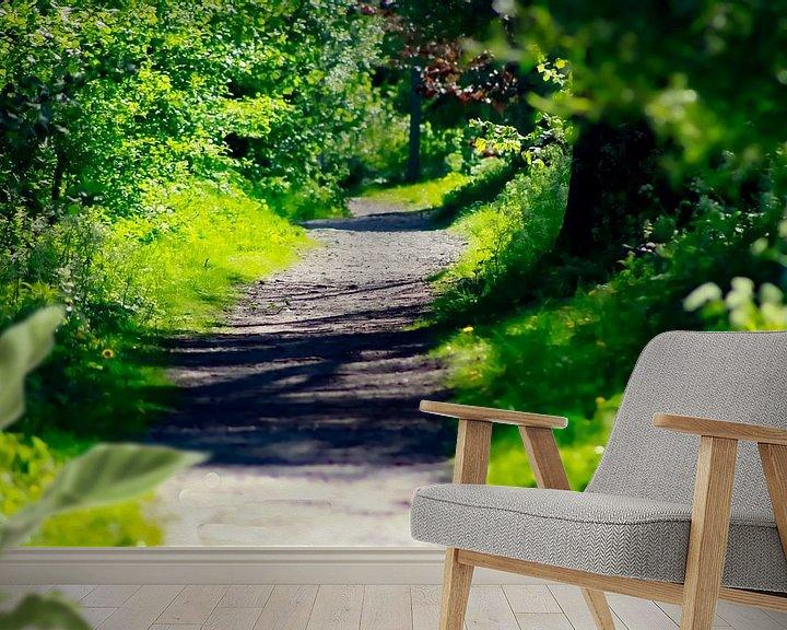 Beispiel fototapete: Grüner Weg am SurfLake von PhotoManiX Digital Photography