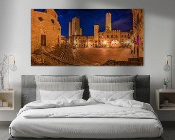 De torens van San Gimignano van Denis Feiner