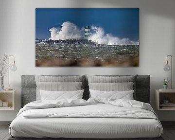 Vuurtoren in een Storm