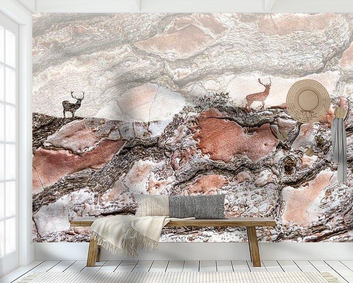 Sfeerimpressie behang: Kunst met damherten van Teuni's Dreams of Reality